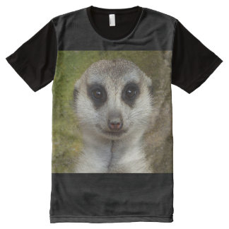 Meerkat T-Shirt Mit Komplett Bedruckbarer Vorderseite