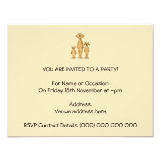 Meerkats. 10,8 X 14 Cm Einladungskarte