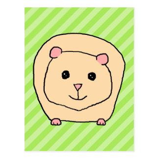 Meerschweinchen, Cartoon-Tier Postkarte