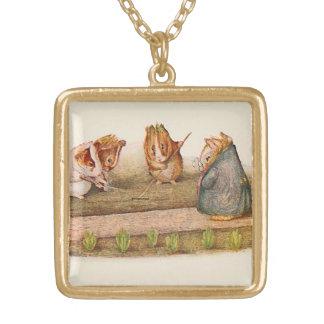 Meerschweinchen, die den Garten illustriert neigen Vergoldete Kette