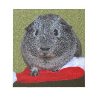 Meerschweinchen-Weihnachten Notizblock