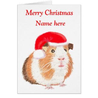 Meerschweinchen-Weihnachtskarte, kundengerecht Karte