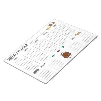 Meerschweinchen Wheekly (wöchentlicher) Planer, Notizblock