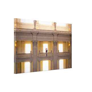 Meg. Ohm u. Jeremys Hochzeits-Foto-Leinwand Gespannte Galerie Drucke