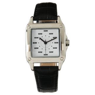 """Mega- cooles """"JETZT"""" (weißer Hintergrund) #10 Armbanduhr"""