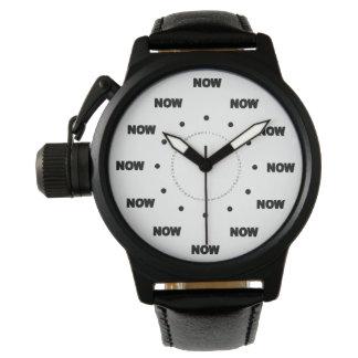 """Mega- cooles """"JETZT"""" (weißer Hintergrund) #1 Armbanduhr"""