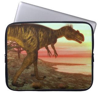 Megalosaurusdinosaurier, der in Richtung zum Ozean Laptopschutzhülle