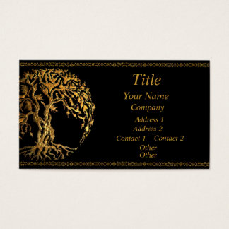 Mehndi Baum des Lebens (Gold) Visitenkarten