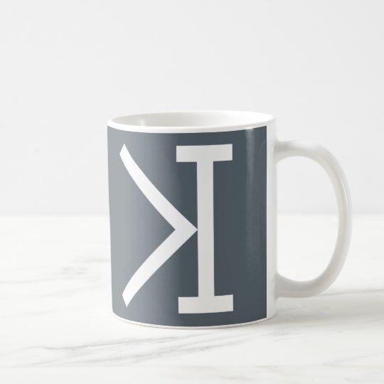"""""""Mehr als (>) trifft das Puzzlespiel-Tasse des Kaffeetasse"""