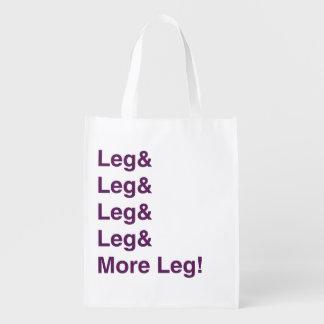 Mehr Bein! Wiederverwendbare Einkaufstasche