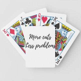 Mehr Katzen, weniger Probleme Bicycle Spielkarten