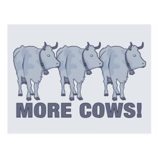 Mehr Kühe! Postkarte