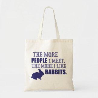 Mehr mag ich Kaninchen Tragetasche
