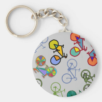 mehrfache Fahrräder Schlüsselanhänger