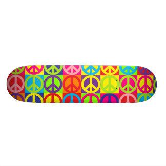 Mehrfacher Mehrfarbenfrieden 19,1 Cm Old School Skateboard Deck