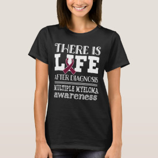 Mehrfacher Myeloma-Burgunder-Band-Bewusstseins-T - T-Shirt