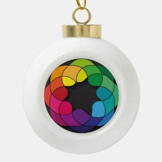 Mehrfarben Keramik Kugel-Ornament