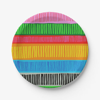 Mehrfarben Pappteller