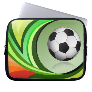 MehrfarbenFußball-Laptop-Hülse Laptopschutzhülle
