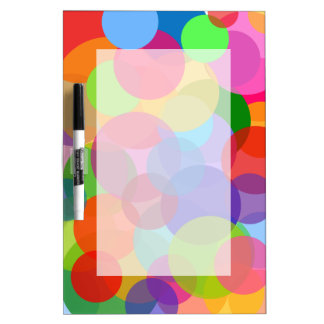 Mehrfarbenkreise u. Punkte Trockenlöschtafel