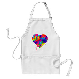 Mehrfarbenkunst-Herz Schürze