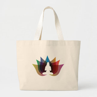 Mehrfarbenlotos-Blume Yogatasche Jumbo Stoffbeutel