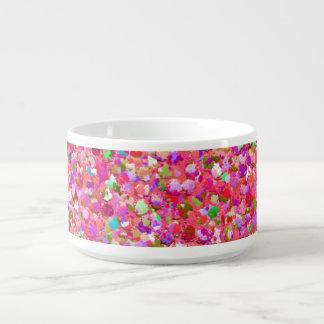Mehrfarbenmosaik-moderner Korn-Glitzer #4 Kleine Suppentasse