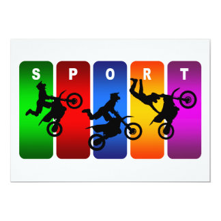 Mehrfarbenmotocross-Emblem Karte