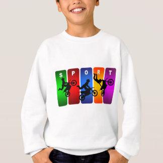Mehrfarbenmotocross-Emblem Sweatshirt