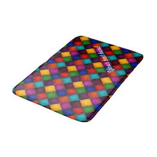 MehrfarbenPatchwork-Muster Badematte