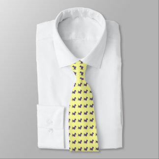 Mehrfarbenscottie-Krawatte Bedruckte Krawatten