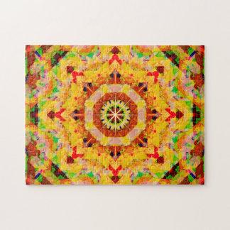 Mehrfarbenstern formt Mandala