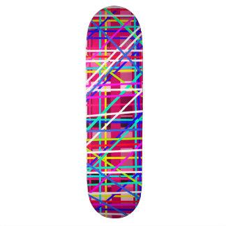 Mehrfarbenstreifenblöcke Personalisiertes Skateboard