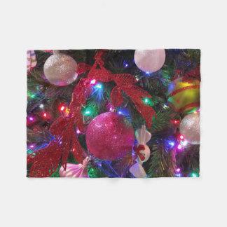 Mehrfarbenweihnachtsbaum-bunter Feiertag Fleecedecke