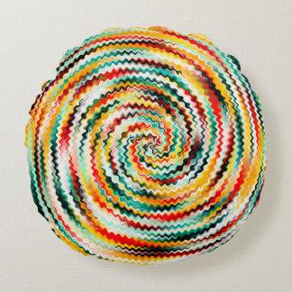 Mehrfarbig Rundes Kissen