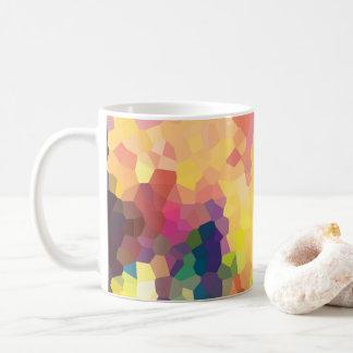 Mehrfarbige abstrakte Kristall-geometrisches Kaffeetasse