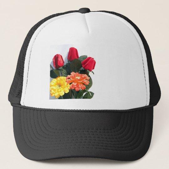 Mehrfarbige Blumen Retromützen