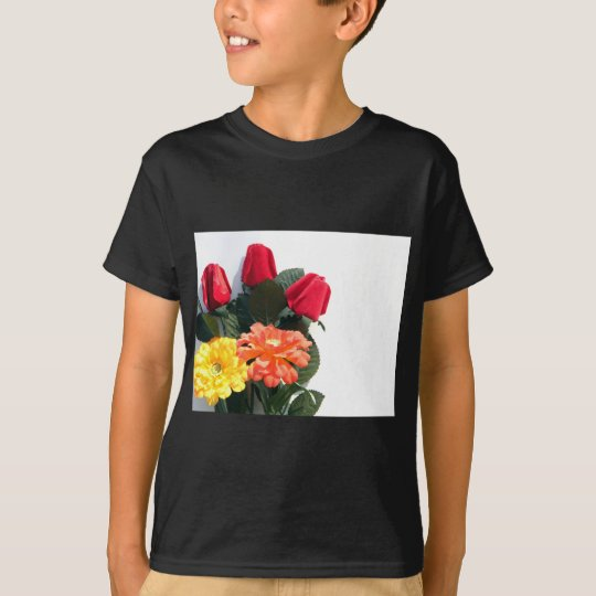 Mehrfarbige Blumen T-Shirt