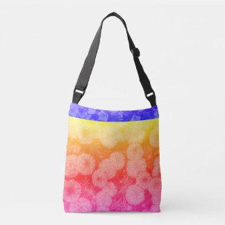 Mehrfarbige Blumenentwurfs-Tasche Tragetaschen Mit Langen Trägern