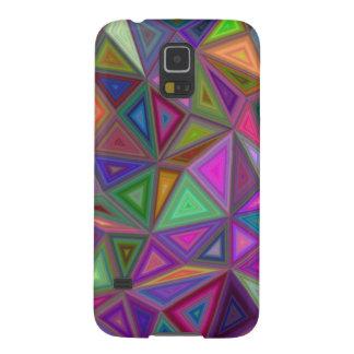 Mehrfarbige chaotische Dreiecke Hülle Fürs Galaxy S5