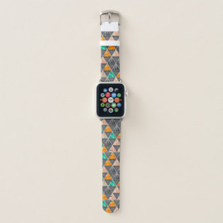 Mehrfarbige Dreiecke Apple Watch Armband