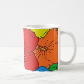 Mehrfarbige Hibiskus-Blumen #7 Kaffeetasse