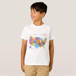 Mehrfarbige Karte der Vereinigten Staaten T-Shirt