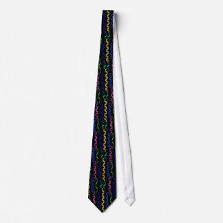 Mehrfarbige Party-Ausläufer auf Schwarzem Personalisierte Krawatten