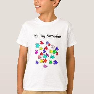 Mehrfarbige Puzzlespiele T-Shirt