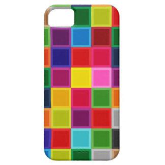 Mehrfarbige Quadrate und Streifen Girly iPhone 5 Etui