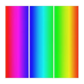 Mehrfarbige vertikale triptychon
