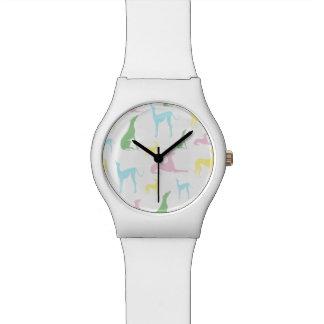 Mehrfarbige Windhund-Uhr Armbanduhr