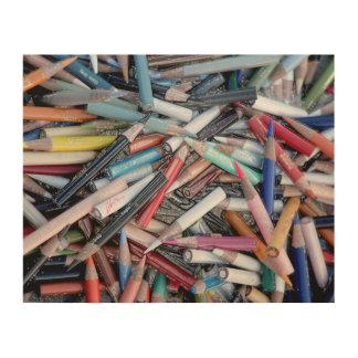 Mehrfarbiger Bleistift jjhelene Entwurf hölzerne Holzdrucke
