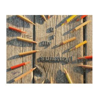 Mehrfarbiger Bleistift jjhelene Entwurf hölzerne Holzleinwände